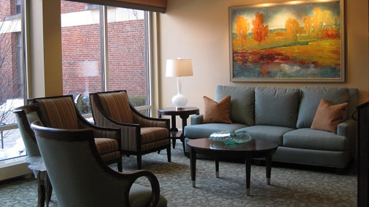sitting area at Presbyterian Homes