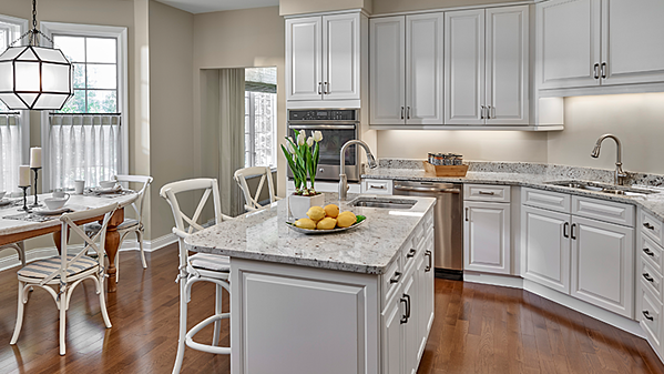 Custom kitchen at Lake Forest Place