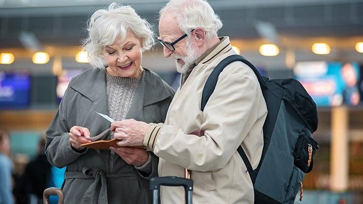 Senior couple visiting attractions near Evanston