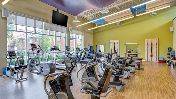 Exercise facility at The Moorings in Arlington Heights, Illinois