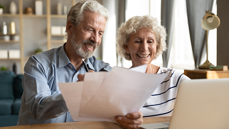 A retirement-ready couple discuss how much a retirement community would cost in their next phase of life.