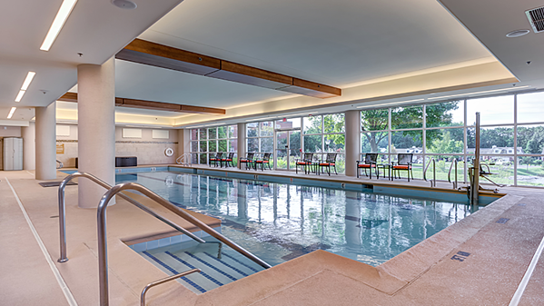 Swimming pool at The Moorings in Arlington Heights, Illinois